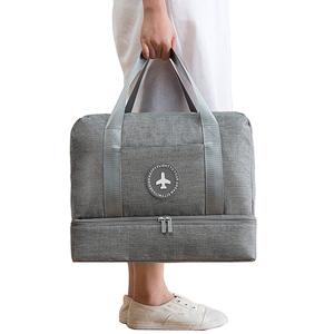 PUSH!旅遊用品防水手提行李包行李收納包鞋包大容量灰色S52灰色