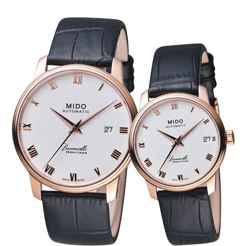 MIDO美度 Baroncelli Heritage永恆系列復刻對錶 M0274073601300 M0272073601300
