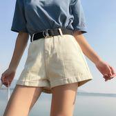 高腰牛仔短褲女正韓卷邊寬鬆休閒熱褲闊腳褲