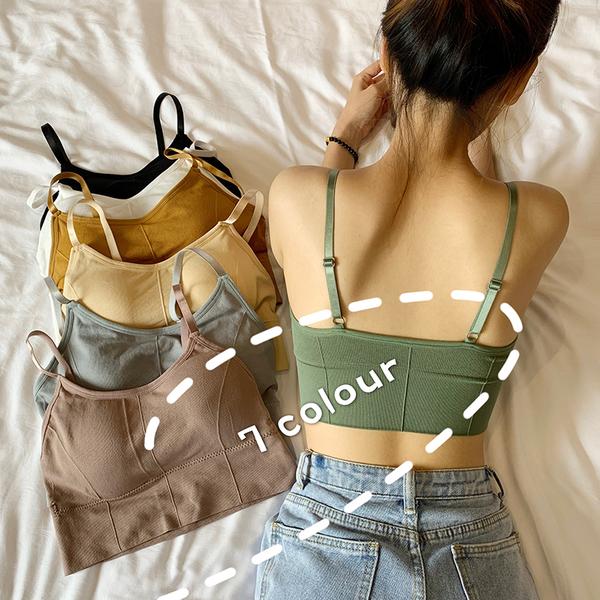 (免運)DE shop - 少女美背抹胸內衣裹胸無鋼圈吊帶背心 - WA-9633