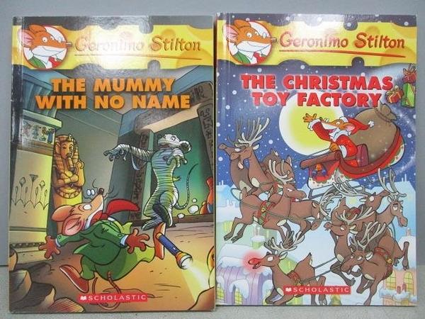 【書寶二手書T7/原文小說_MRE】The Mummy With no Name_The Christmas…2本合售