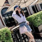 子母包夏季小包包女2018百搭韓版水桶簡約手提透明果凍斜背包 法布蕾輕時尚