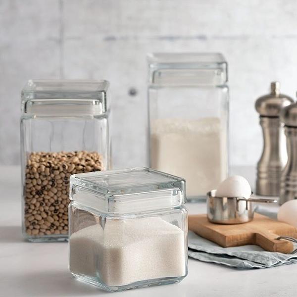 Pasabahce Landmark Jar玻璃磚塊形儲物罐750cc-