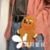 斜跨圣誕姜餅人蘋果6s手機殼iphoneX/7plus保護套硅膠8plus卡通女