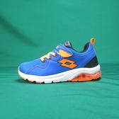 LOTTO 慢跑鞋 抗菌防臭 輕量氣墊跑鞋 LT9AKR0596 大童/女鞋 藍橘色【iSport 愛運動】