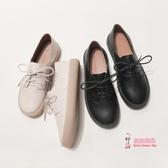 娃娃鞋 仙女風軟妹系帶小皮鞋女日系學院風百搭復古圓頭森系娃娃平底單鞋 2色35-39