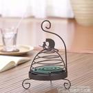 蚊香架 蚊香架鳥籠貓咪接灰盤托帶蓋日式防火檀香薰爐擺件燭臺