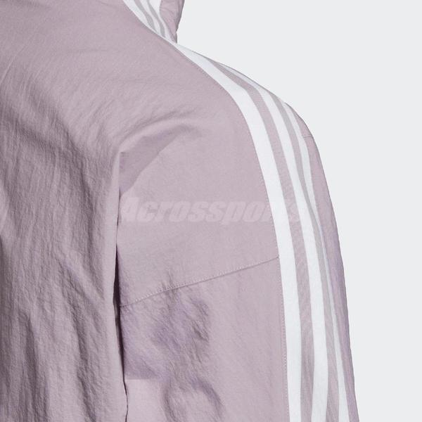 adidas 外套 Lock Up TT 紫 白 女款 立領外套 運動休閒 復古 【PUMP306】 ED7541