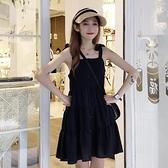 2020新款超仙無袖黑色小個子吊帶裙法式小眾洋裝女夏季赫本裙子 【韓語空間】