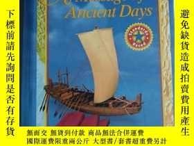 二手書博民逛書店a罕見message of ancient days 大型歷史畫