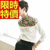 長袖襯衫 男上衣-舒適質感修身美式風帥氣品味4色59k42[巴黎精品]