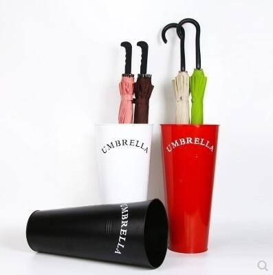 優選 【黑色】歐式簡約雨傘架 日式花插桶