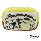 【日本進口正版】布丁狗 Pom Pom Purin 三麗鷗人物 棉質 長型 收納包 零錢包 Sanrio - 430085