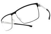 Ic! Berlin 光學眼鏡 TOMMY G. BLACK CHROME (黑-銀) 輕量工藝紳士眉框款 薄鋼眼鏡 # 金橘眼鏡