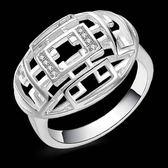925純銀戒指 鑲鑽-復古百搭生日情人節禮物女配件73aq16【巴黎精品】