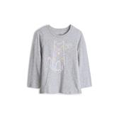 Gap女幼童棉質舒適印花圓領T恤519067-麻灰色