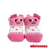 MIKI HOUSE  舞颯兔可愛造型嬰兒襪 (粉紅)