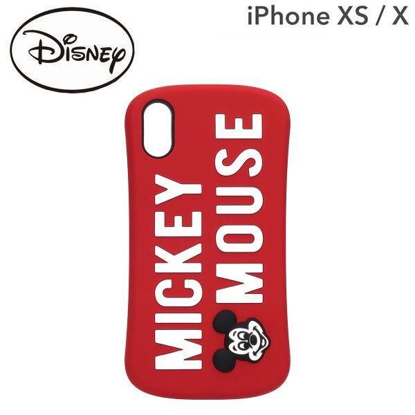 Hamee 日本 迪士尼 矽膠浮雕 iPhoneXS/X 防摔 軟殼 手機殼 (米奇LOGO) DCS377MKY