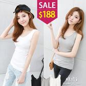 糖罐子*原價350 特價188*韓品‧純色羅紋背心→預購【E36557】