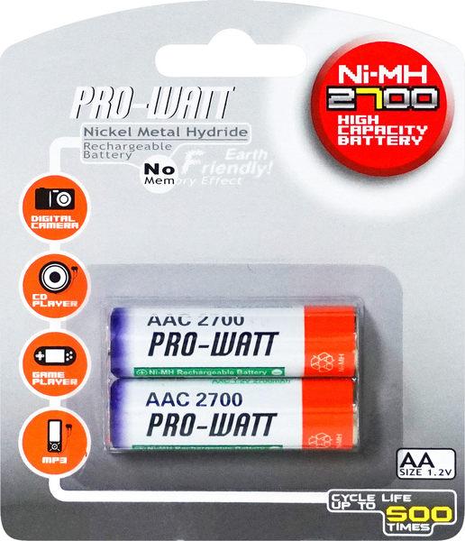 3號鎳氫充電電池-2入 PW-AAC2700