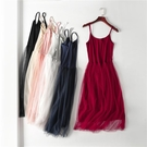 吊帶裙網紗裙無袖洋裝內搭打底裙女裝大碼莫代爾長裙 格蘭小鋪