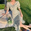 雪紡洋裝 法式復古茶歇碎花連身裙女裝2021新款夏季溫柔風雪紡長裙子寶貝計畫 上新