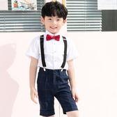 兒童演出服裝男童鋼琴小主持人夏季表演套裝2018新款婚禮花童禮服
