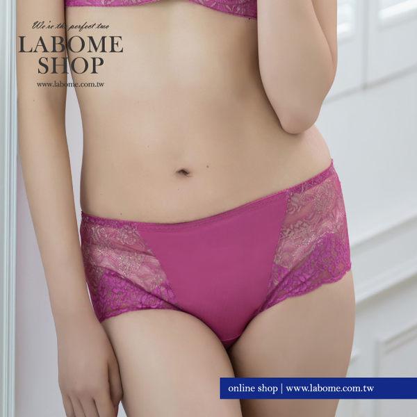 LaBome拉波米內衣。金色花卉蕾絲內褲。觸膚柔軟 彈性舒適。MIT。B20032