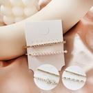 韓系少女氣質髮夾 鑽石珍珠 花珍珠 珍珠 2入組 髮飾 邊夾 碎髮夾