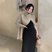 套裝 披肩斗篷 毛衣女 春夏設計感 小眾 外搭復古 2021年 新款寬鬆 針織衫上衣