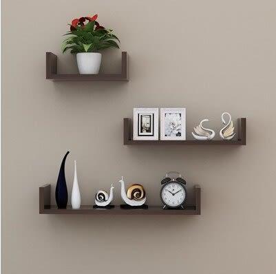 牆上置物架客廳牆壁挂牆面隔板擱臥室多層書架鑽孔安裝簡約現代裝飾黑色18(首圖款)