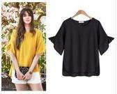 歐美XL-5XL糖果色上衣棉麻衫歐美新款大碼女裝氣質短袖寬松襯衫2F029.8031愛尚布衣