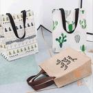 手提袋購物袋飯盒便當包女折疊便攜防水環保帆布袋子【橘社小鎮】
