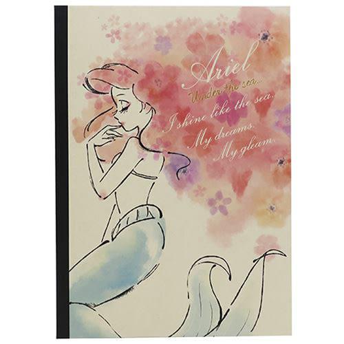 《KAMIO》迪士尼公主秀髮綻放系列B5平裝筆記本(小美人魚) KM88005