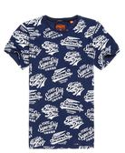 美國代購 現貨 Superdry 極度乾燥 Triple Logo All Over Print T恤 (XXL)
