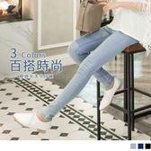 OB嚴選《BA1814-》水洗精鍊~立體貼合水洗牛仔窄管褲‧3色--適 XS~XL