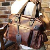 韓版斜背包單肩包旅行包 潮包 手提包男款休閒包大包  卡布奇諾