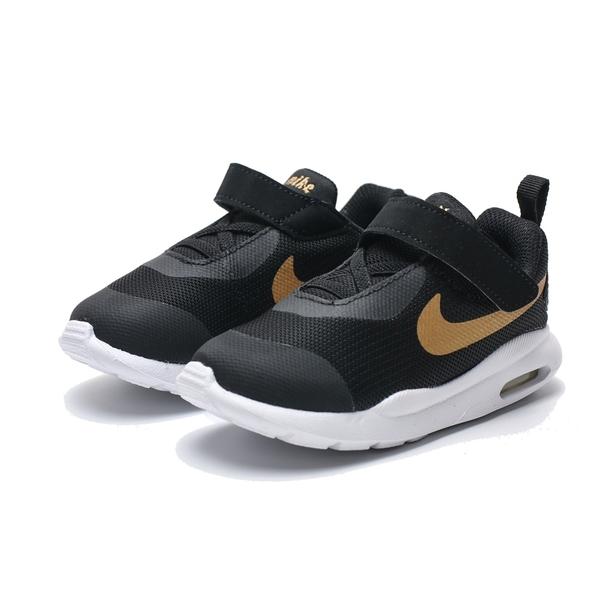 NIKE AIR MAX OKETO 黑金 氣墊 黏帶 休閒 運動鞋 小童(布魯克林) AT6658-001