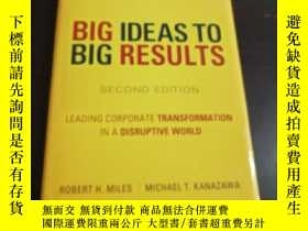 二手書博民逛書店BIG罕見IDEAS TO BIG RESULTS(SECOND