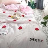 限定款涼被 / 單人【甜心草莓 花邊】150x200公分 夏季薄被子