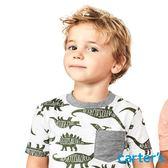 Carter's 台灣總代理 滿版恐龍印圖上衣