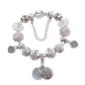 手鍊 串珠-水晶飾品簡單純白生日情人節禮物女配件73bf1【時尚巴黎】