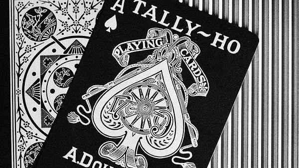 【USPCC撲克館】TALLY-HO 銀粉蛇 撲克牌 扇形背