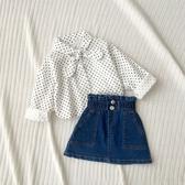 韓版 女童包裙牛仔短裙洋氣裙子小童女寶寶半身裙春秋兒童半裙