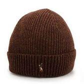 RALPH LAUREN POLO 新款刺繡小馬logo羊毛針織帽(咖啡色)780960-2