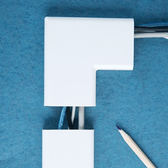 ✭米菈生活館✭【N199】直角電線裝飾遮檔板 自黏式 客廳 辦公室 房間 安全 美觀 收納 牆面
