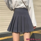 百褶裙 黑色百褶裙女設計感高腰a字裙灰色JK半身裙小個子顯瘦短裙子-Ballet朵朵