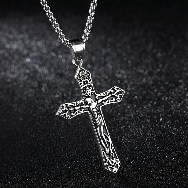 中性項鍊 Z.MO鈦鋼屋 十字耶穌項鍊 十字項鍊 白鋼項鍊 中性項鍊【AKS1286】單條價