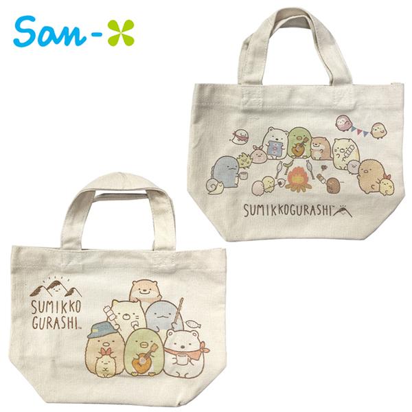 【日本正版】角落生物 露營系列 帆布手提袋 便當袋 午餐袋 角落小夥伴 San-X 366377 366384