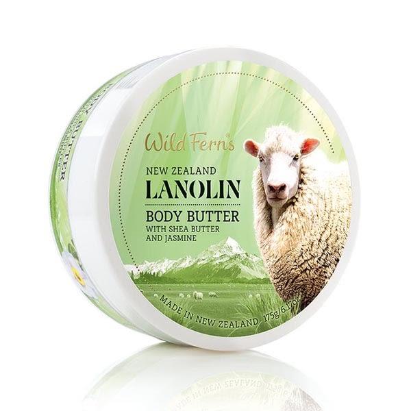 綿羊油身體乳霜175g (添加乳木果油、茉莉萃取) 紐西蘭 Wild Ferns
